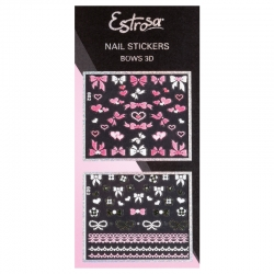 NAIL STICKERS BOWS 3D