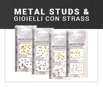 Offerta Metal Studs e Gioielli Nailart Manicure Nailart